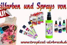Textil Farben / Farben und Sprays für Textilien.