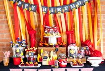 Fireman Party / A creative collection of firefighter birthday party ideas including DIY party decorations, fun games for kids, party food kids will love, free printables, favor ideas and more!