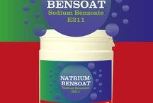 Natriumbensoat / Natriumbensoat - Ett konserveringsmedel som funnits i sekel. 1 gram per lite kilo är utgångsvärde. Produkten måste ha lågt pH, annars fungerar det inte. Då kan man tillsätta 1 gram/citronsyra kg/L.