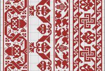Folk designs cross stitch