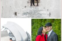 Chicago engagements / We love working with couples to create creative and fun engagement portraits.