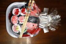 Baby shower sushi gift