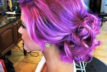 Hair color / rainbow hair, hiusväri, shokkiväri, suoraväri
