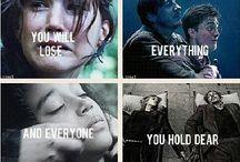 The Hunger Games, Harry Potter, Divergent