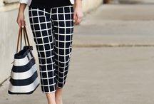 How to wear: window pane print