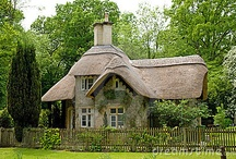 Cottage / I have such a love for these cottages, I think it is because my wee scottish gran lived in a thatched cottage on a street called Heather Row. Just imagine... / by Arlene Alvey