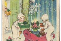 Oude Kerst En Nieuwjaarskaarten