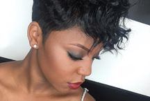 short natueal black hair