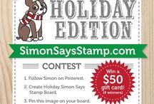 Holiday Simon Says Stamp Board