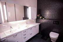 Toilet / Black and white toilet.