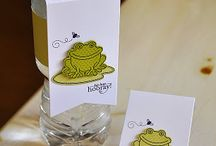 water bottle tag / handmade craft