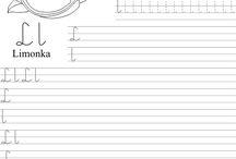 litery pisanie cyfry