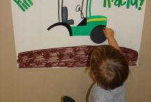 Tractor, truck and digger party