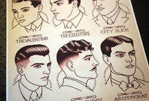 Coiffures hommes des Années Folles / Présenter des modèles de coiffures pour hommes utilisées dans les années 1920