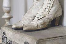 oude laarzen/schoenen-old boots/shoes / by ~♡~Lovely brocante~♡~
