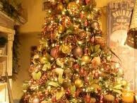 Christmas Decorating / Shades of Gold,Silver,Copper,Bronze,Chocolate and Lime