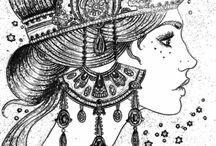 omalovánky mystické ženy