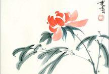 Chinese/ Japanese brushpainting / by Nancy Schupple