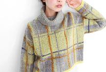 Knitted tartan