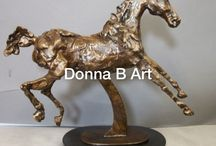 Contemporary Horses - The Archetypal Horse / Modern mixed media works by Donna B