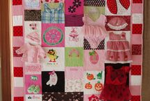 quilts: baby clothes