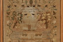 Antique Samplers / by Kitty and Me Designs