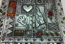 Metal Art on pewter & thin metal sheet / by Garnette Marlow