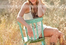 Posing on a chair
