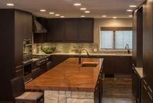 Rustic meets modern kitchen