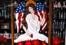 Window Painting by Terri / Custom window paintings