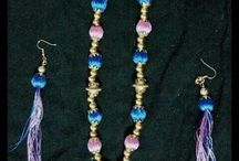 Splashy Arts Padmaa Ramkumar ☺ /  silk thread and imitation jewellery