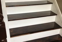 Stair Refinishing Ideas / by Katie Verrill