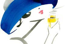 DESSINS AQUARELLES - BLUE DRAWINGS