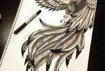 fønix tegning