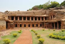 Udayagiri and Khandagiri caves / The twin hills Udayagiri & Khandagiri are located in the vicinity of Bhubaneswar town. It is caves partly natural, artificial of  historical and religious. These two hills represent one of the earliest groups of Jaina rock-cut architecture in eastern India in the field of architecture, art & religion. These caves were first brought to the notice by A. Stirling in 1825 A.D.  http://www.heritagetoursorissa.com/