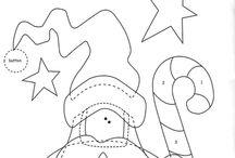 Christmas Appliques / Christmas Applique Project Sheets