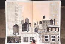 urban sketching /watercolor
