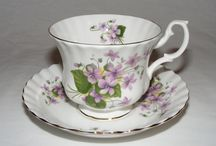 """Un-Named Montrose"" Shaped Royal Albert / There are so many pretty Un-Named patterns, these are the some of the ones that came in the Montrose cup shape. The ""Montrose"" Shape was introducing in the 1960s with ""Old County Roses"""