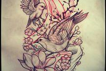 hinh xăm chim