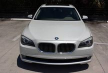 Used 2009 BMW 750i for Sale ($38,500) at Boca Raton, FL / Make:  BMW, Model:  750i, Year:  2009, Exterior Color: White, Interior Color: Beige/Tan, Vehicle Condition: Excellent, Mileage:32,400 mi,  Transmission: Automatic, Fuel: Electric.   Contact: 917-858-1583   Car ID (57219)