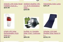 Solar Products & Deals / Solar Products & Deals here: http://astore.amazon.com/preppercom-20?_encoding=UTF8&node=29 / by Prepper Babe