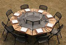 mesa con parrilla