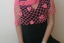 Shawl Wrap Capelet - Hisliden / Fiber Art Crochet and Knit Woemen's Wear