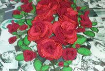 """fiori all'uncinetto centro tavola rose """"Monica"""""""