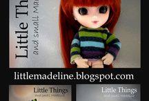 Fashion  Little Pullip. / Jak uszyć maleńkie stroje dla lalki Little Pullip z ciałkiem Body Obitsu 11cm. Ciekawe pomysły i bardzo proste propozycje ubranek, które zrobisz sama.