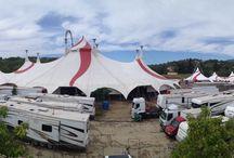 Le village dans la ville / Le village dans la ville , les 135 personnes du cirque Arlette Gruss à Valbonne !