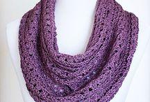 crochet scarfs/cowls