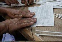 tejer papel periódico