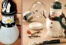 ampoule bonhomme de neige