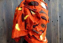 ANO KATO / Handmade scarves,nunofelt